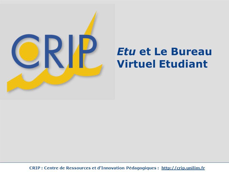 Etu et Le Bureau Virtuel Etudiant