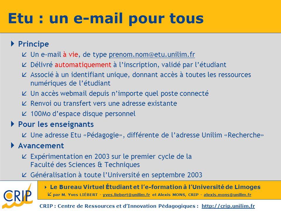 Etu : un e-mail pour tous