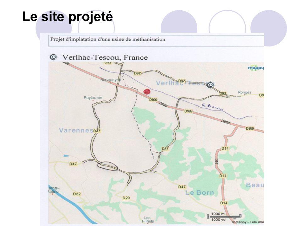 Le site projeté