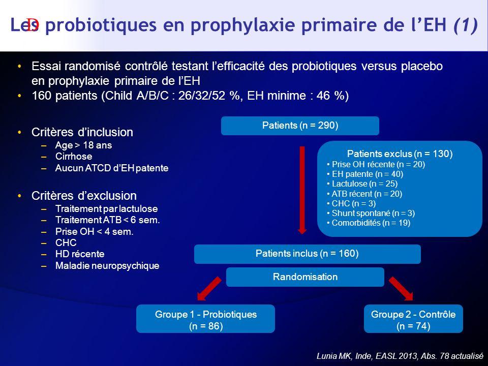 Les probiotiques en prophylaxie primaire de l'EH (1)