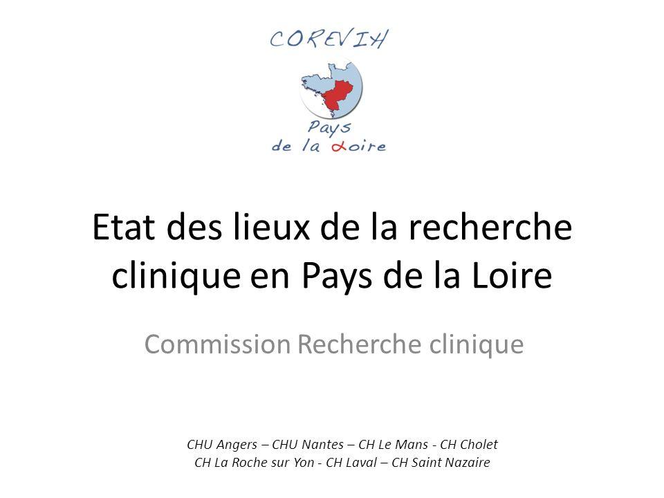 Etat des lieux de la recherche clinique en Pays de la Loire