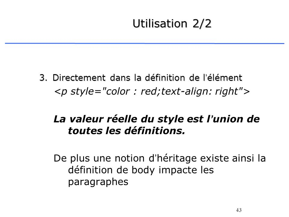Utilisation 2/2 <p style= color : red;text-align: right >