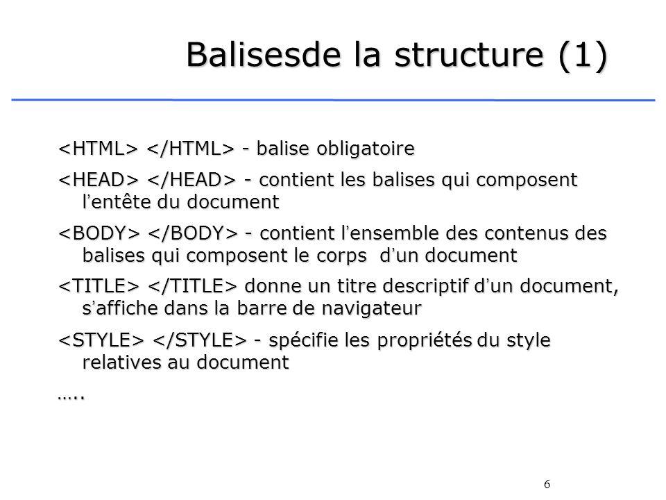 Balisesde la structure (1)