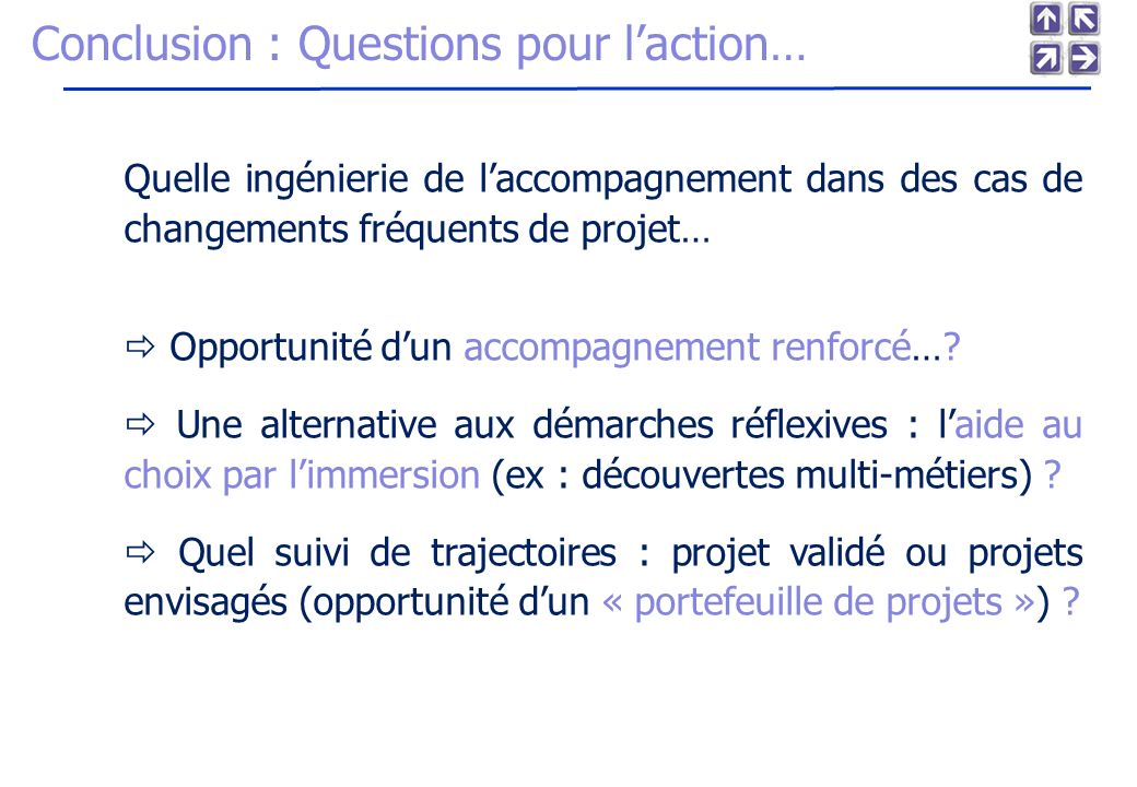 Conclusion : Questions pour l'action…