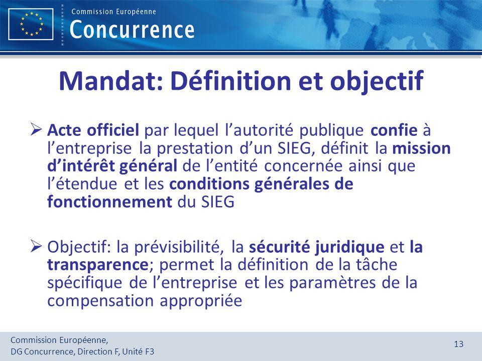 Mandat: Définition et objectif