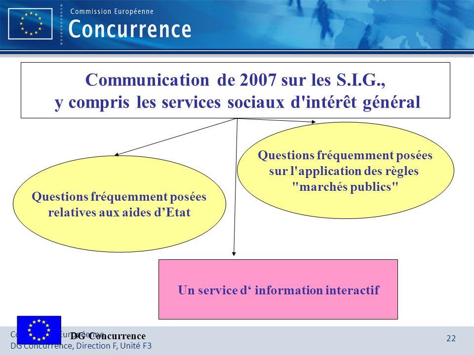 Communication de 2007 sur les S.I.G.,