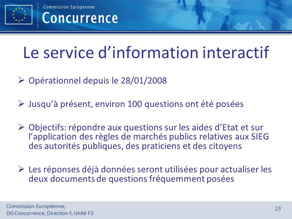 Le service d'information interactif