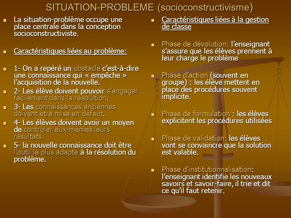 SITUATION-PROBLEME (socioconstructivisme)