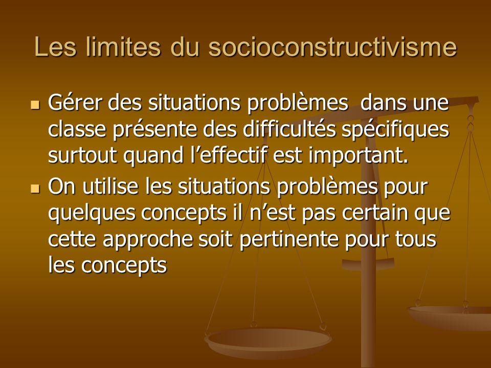 Les limites du socioconstructivisme