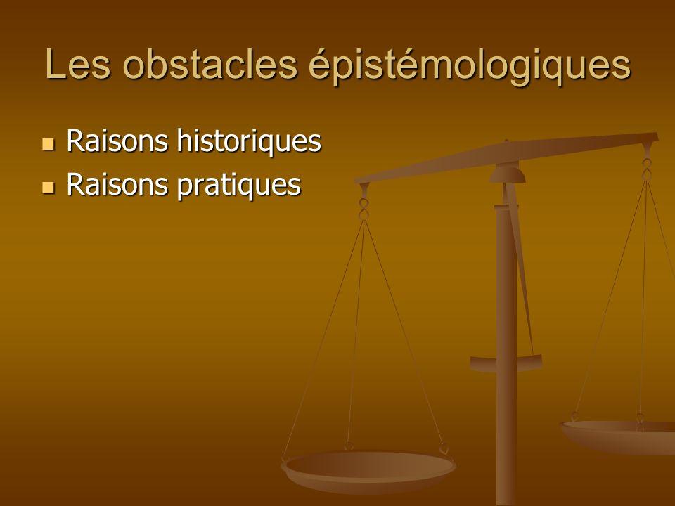 Les obstacles épistémologiques