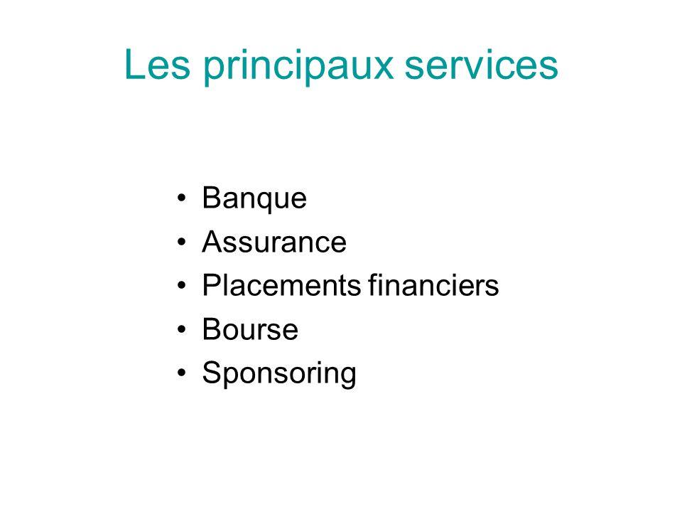 Les principaux services