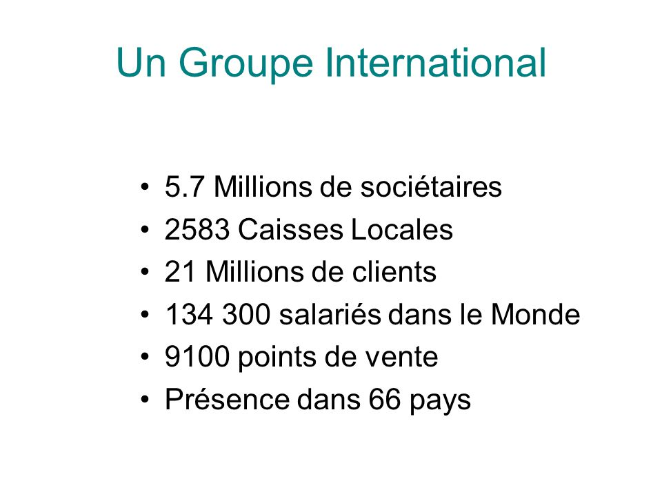 Un Groupe International