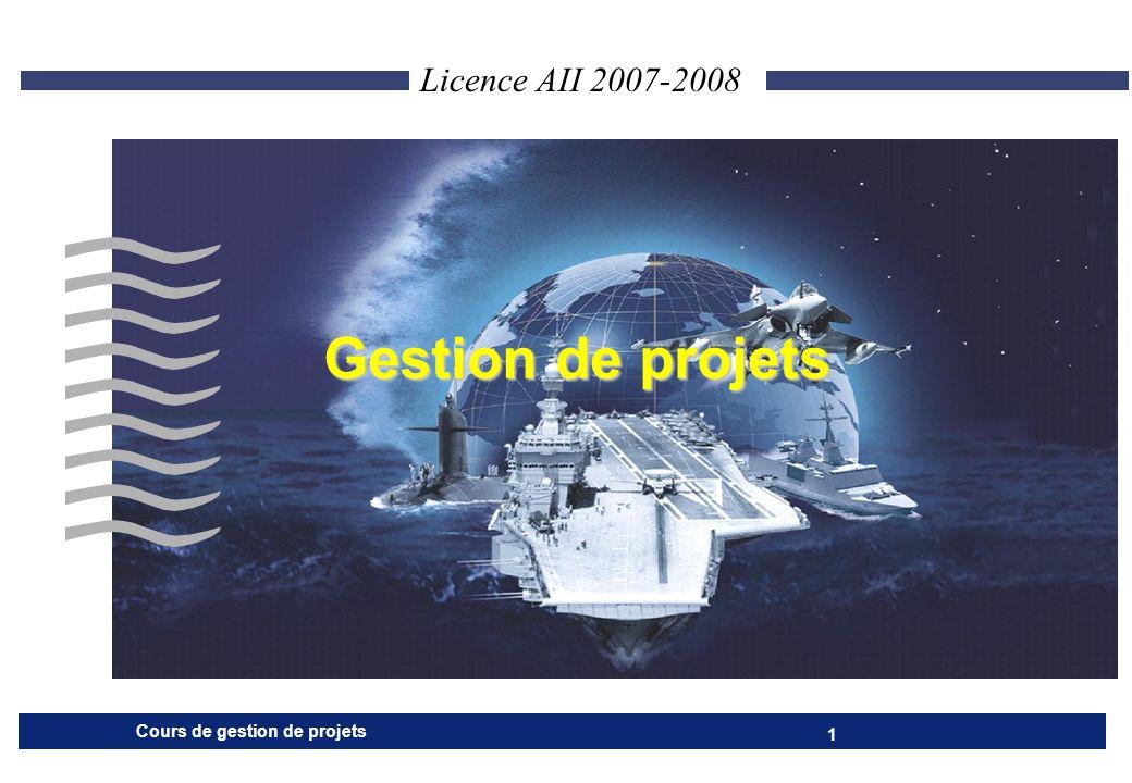 Licence AII 2007-2008 Gestion de projets