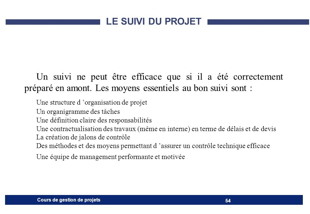 Une structure d 'organisation de projet