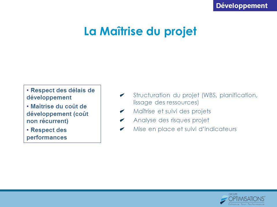 La Maîtrise du projet Développement