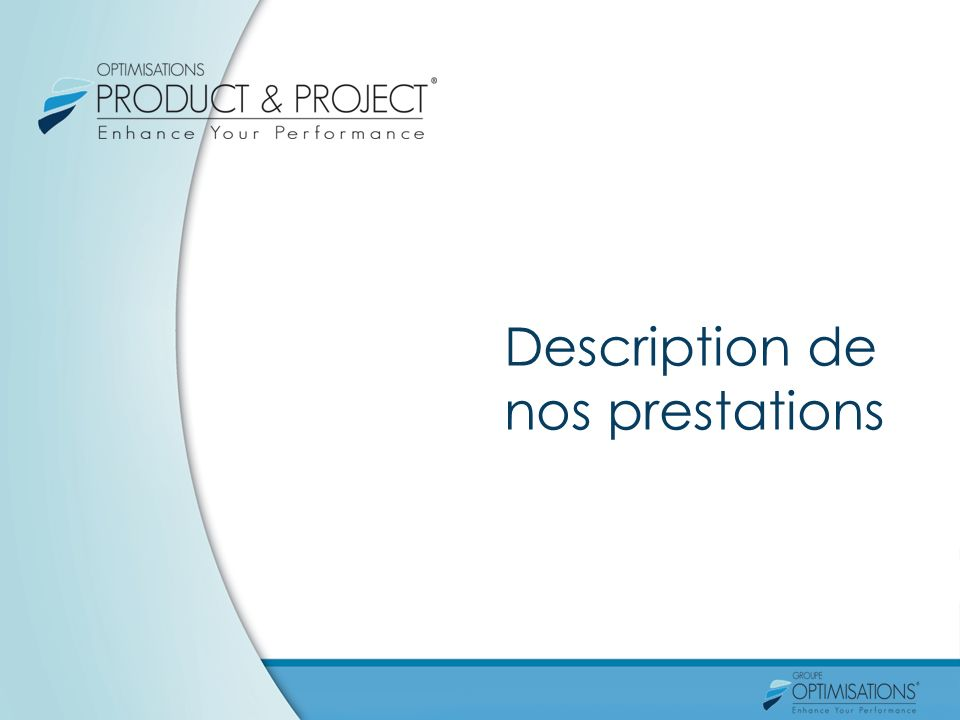 Description de nos prestations
