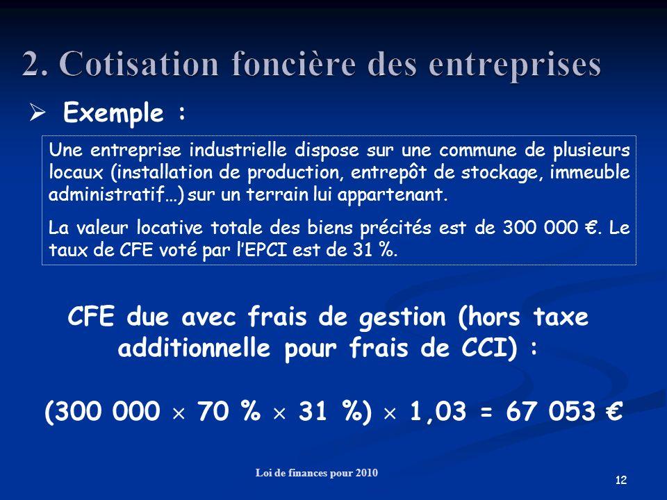 2. Cotisation foncière des entreprises