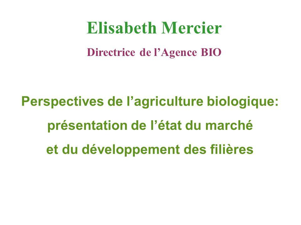 Elisabeth Mercier Perspectives de l'agriculture biologique: