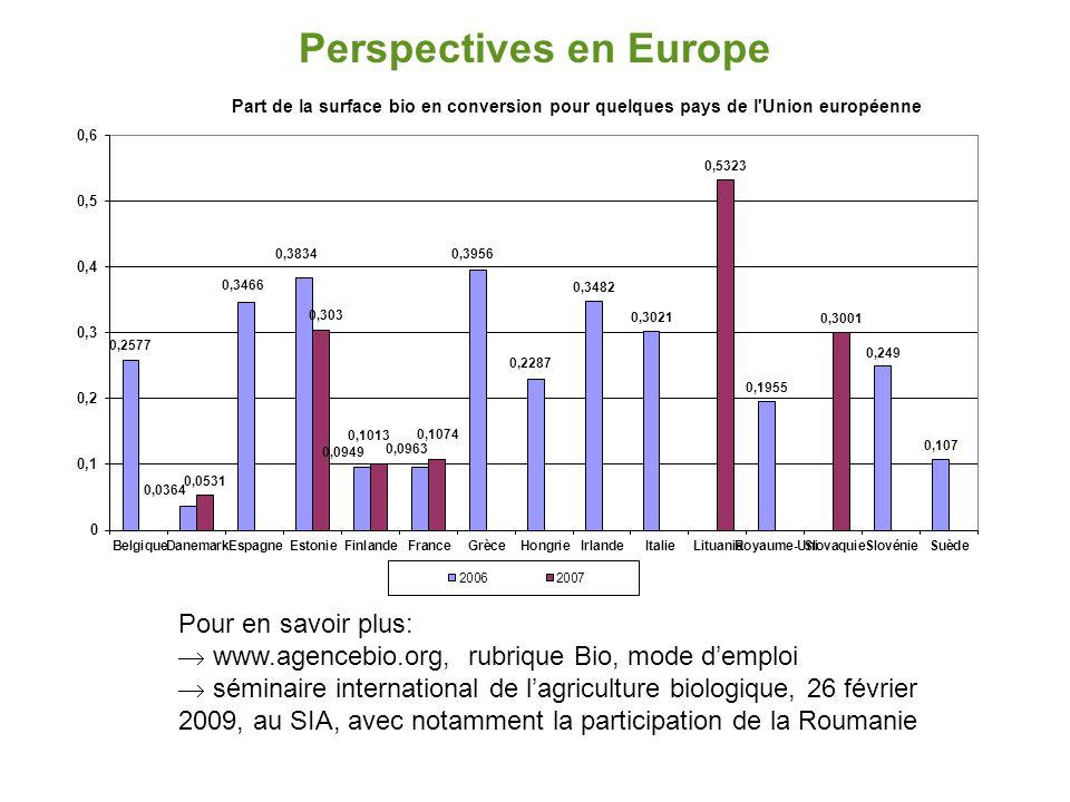 Perspectives en Europe