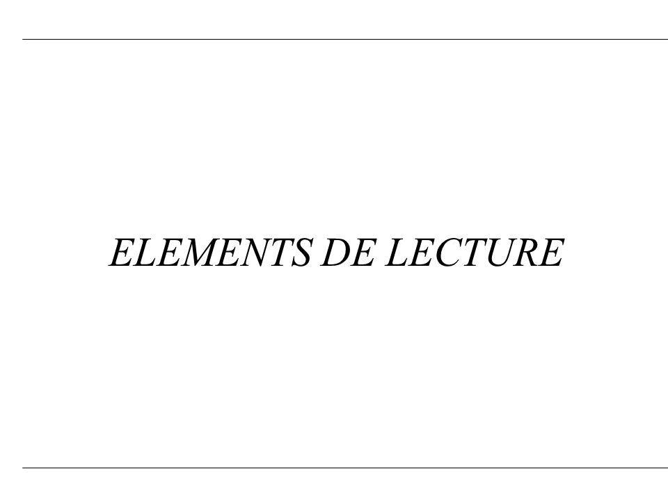 ELEMENTS DE LECTURE 4