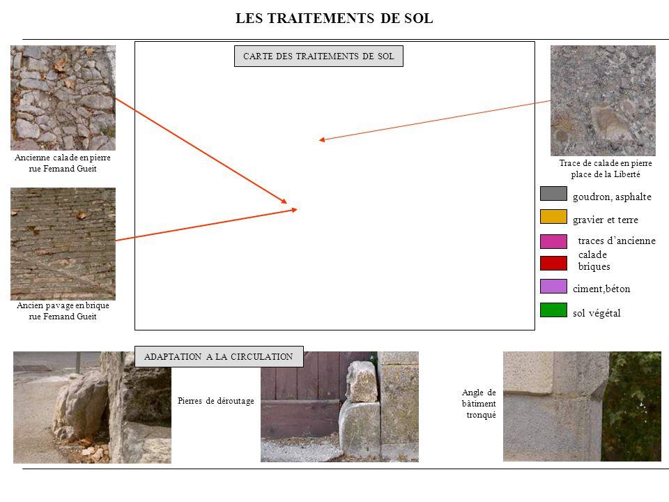 LES TRAITEMENTS DE SOL goudron, asphalte gravier et terre