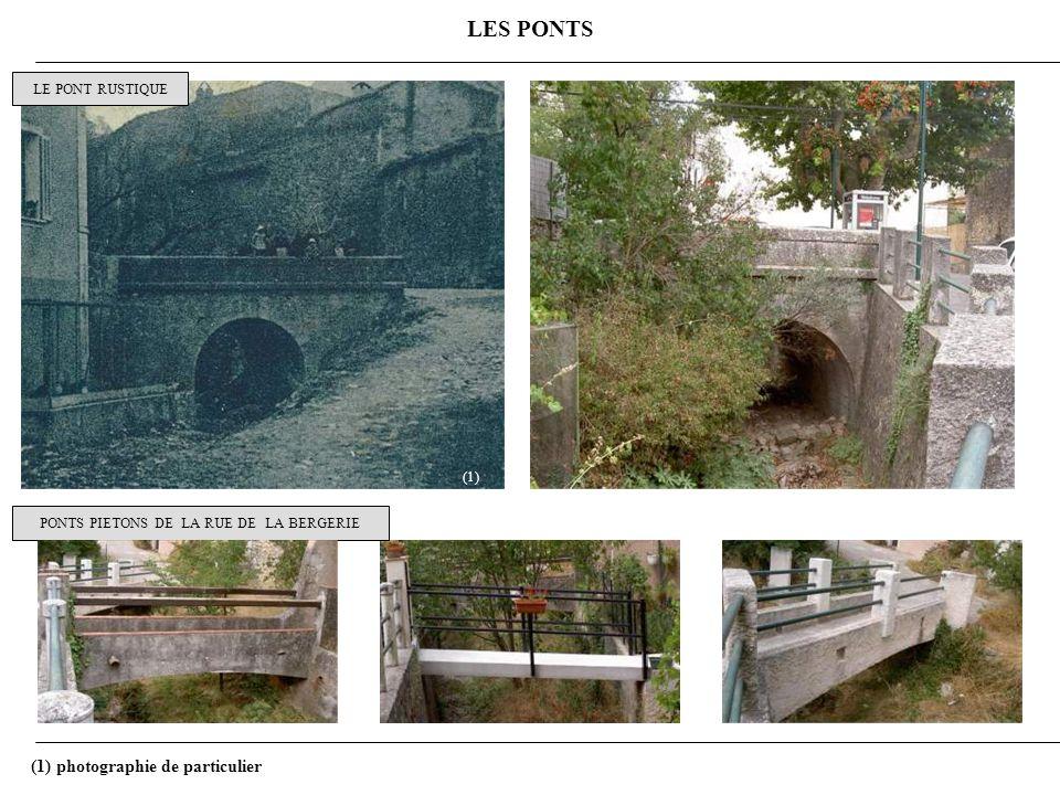 PONTS PIETONS DE LA RUE DE LA BERGERIE