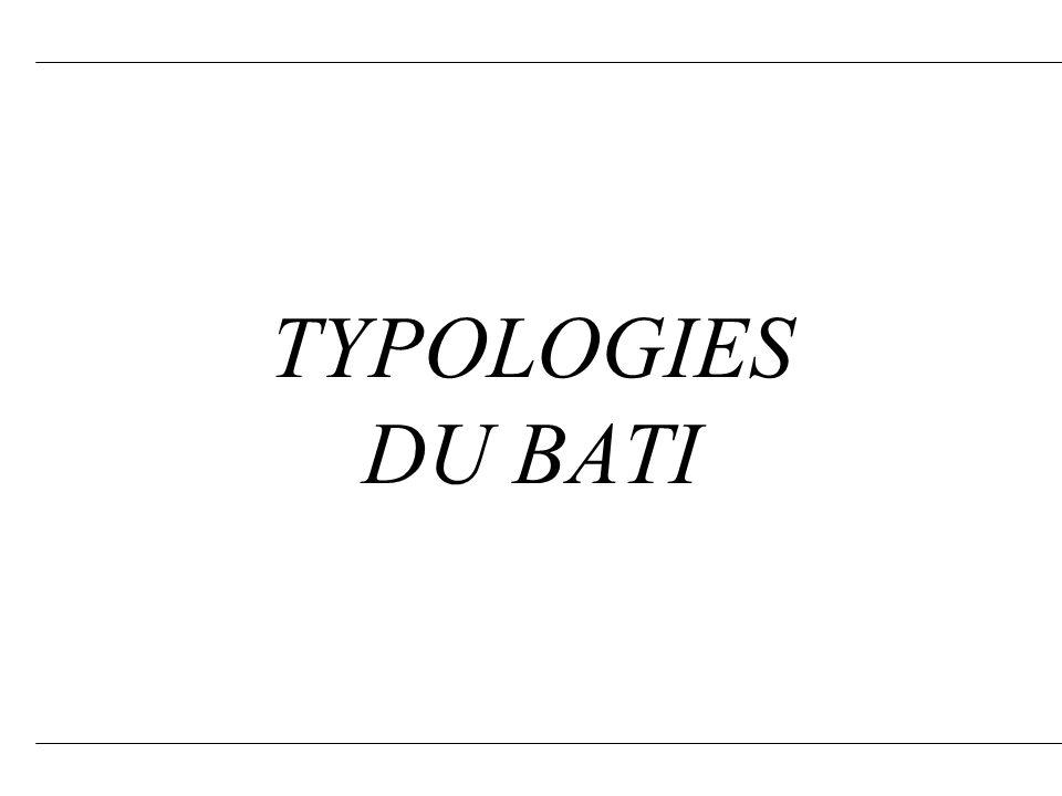 TYPOLOGIES DU BATI 1