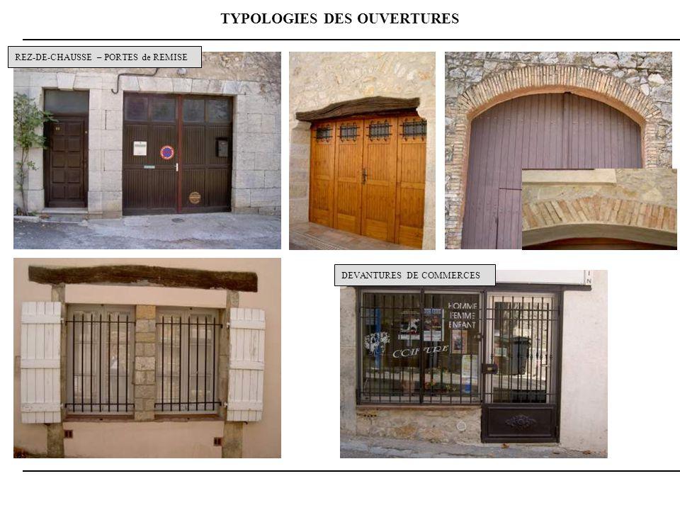 TYPOLOGIES DES OUVERTURES