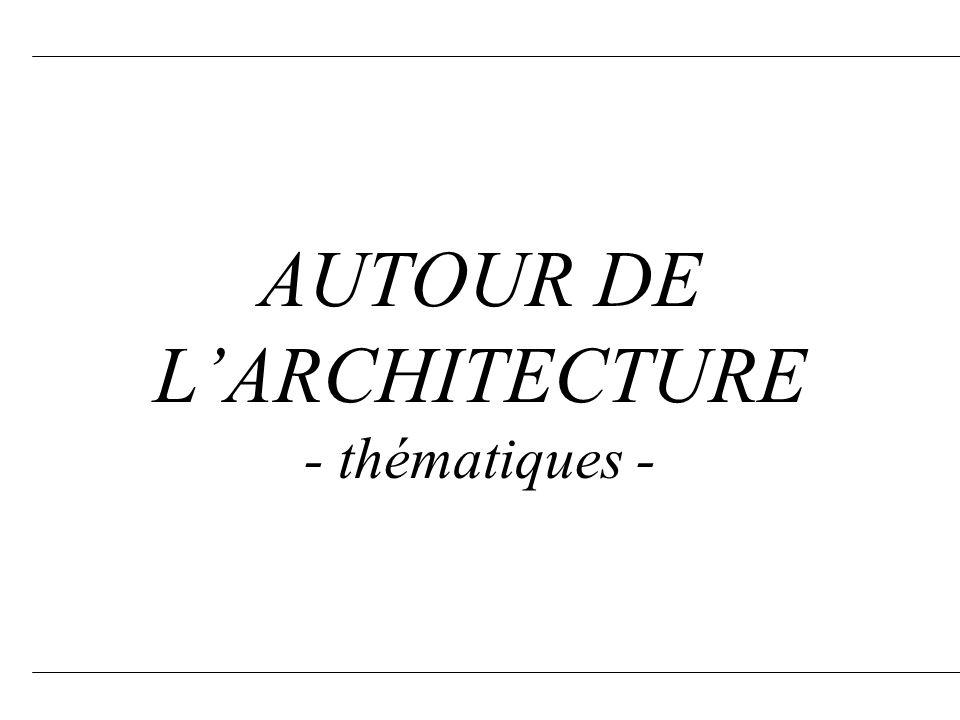 AUTOUR DE L'ARCHITECTURE - thématiques -