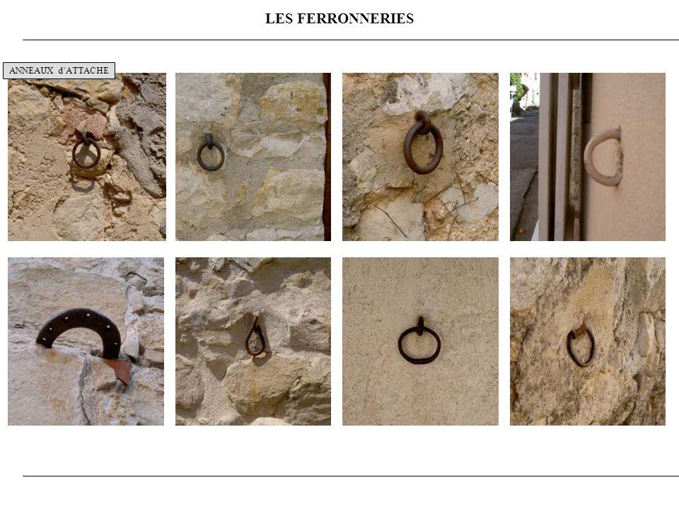 LES FERRONNERIES ANNEAUX d'ATTACHE 10
