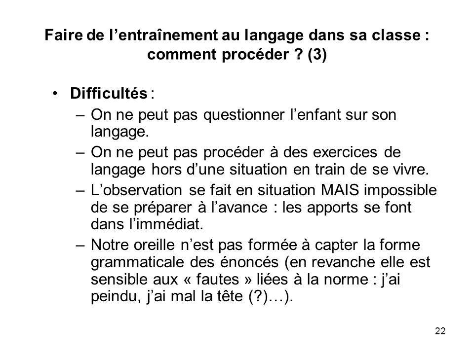 Faire de l'entraînement au langage dans sa classe : comment procéder