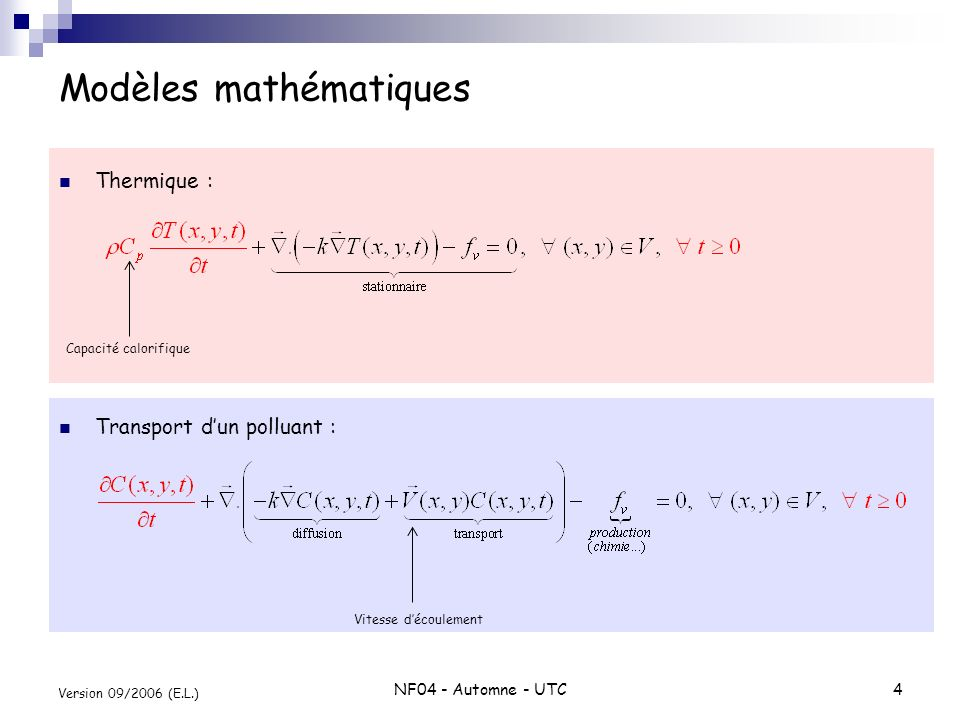 Modèles mathématiques