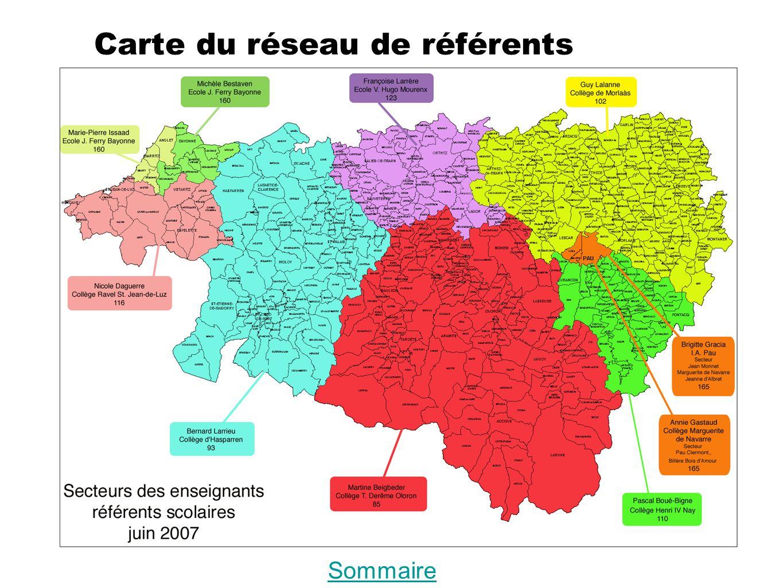 Carte du réseau de référents