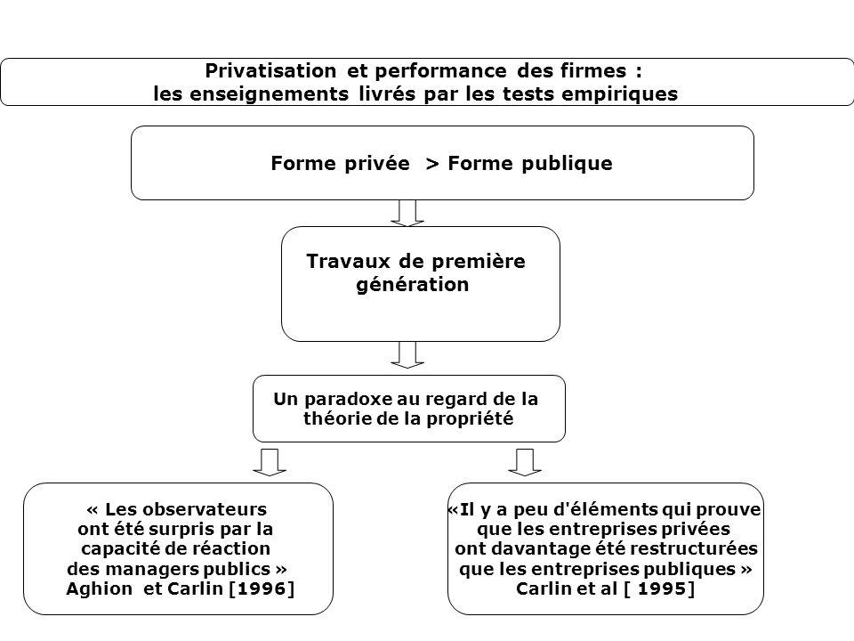Privatisation et performance des firmes :