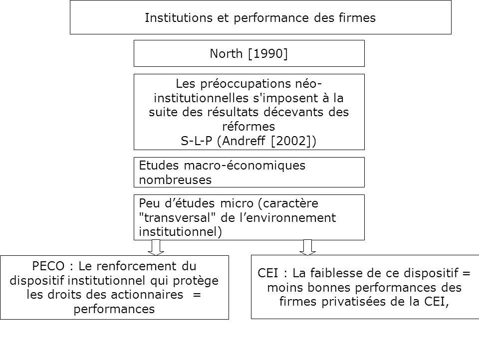 Institutions et performance des firmes