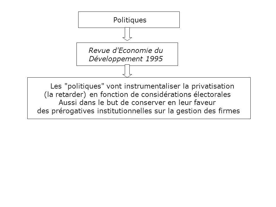 Les politiques vont instrumentaliser la privatisation