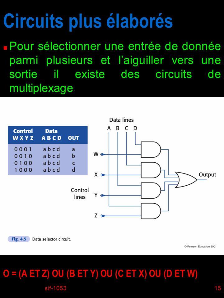 Circuits plus élaborés