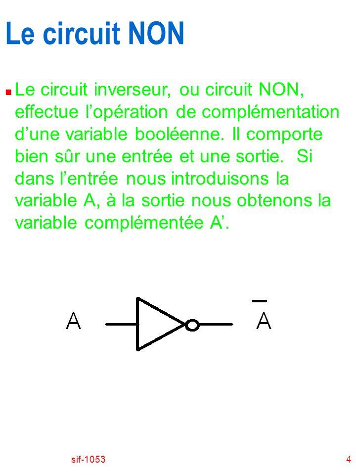 Le circuit NON