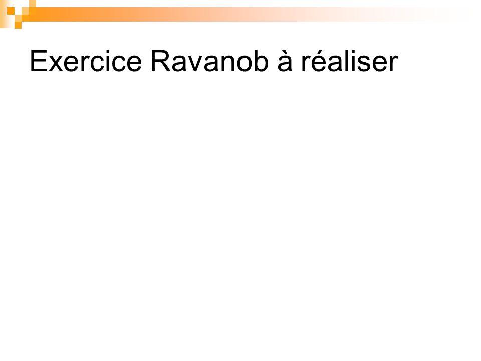 Exercice Ravanob à réaliser