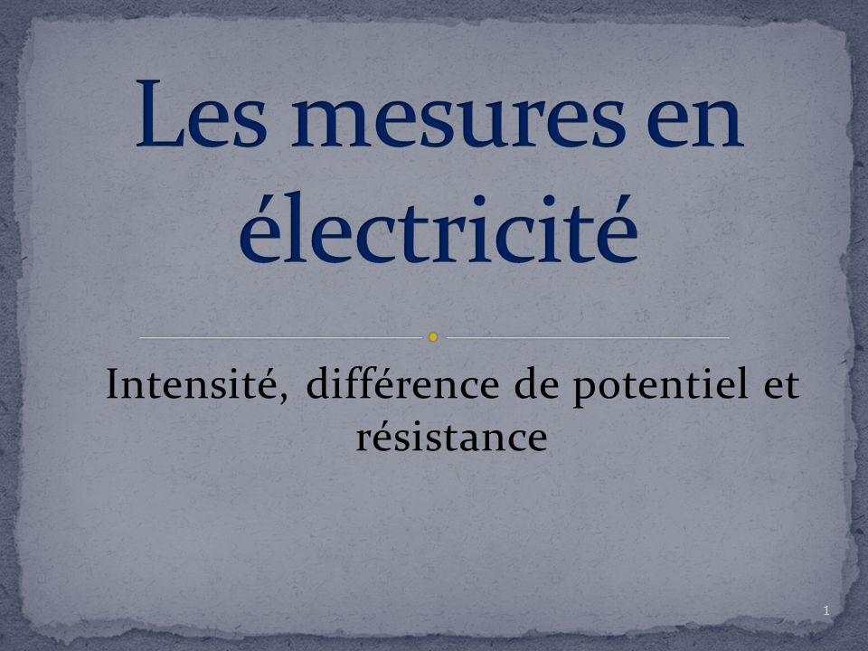 Les mesures en électricité