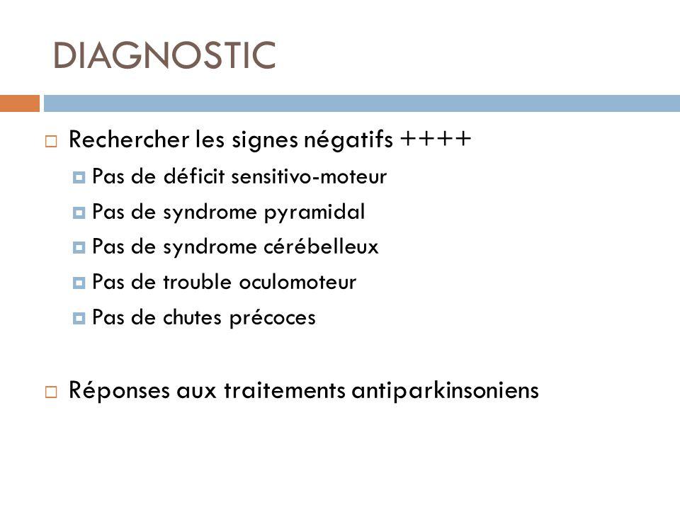 DIAGNOSTIC Rechercher les signes négatifs ++++
