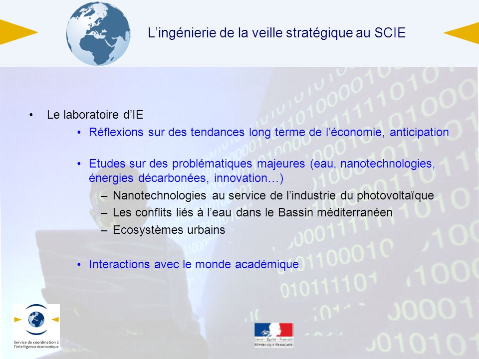 L'ingénierie de la veille stratégique au SCIE