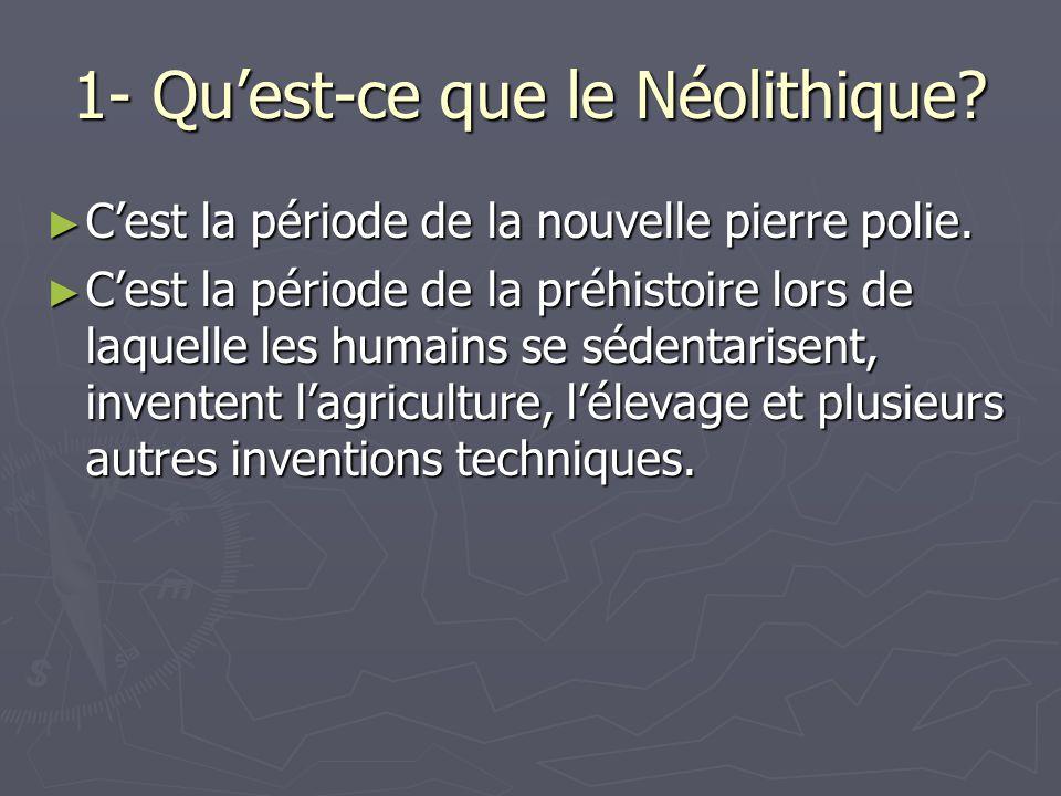 1- Qu'est-ce que le Néolithique