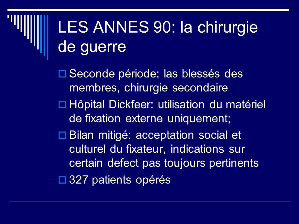 LES ANNES 90: la chirurgie de guerre