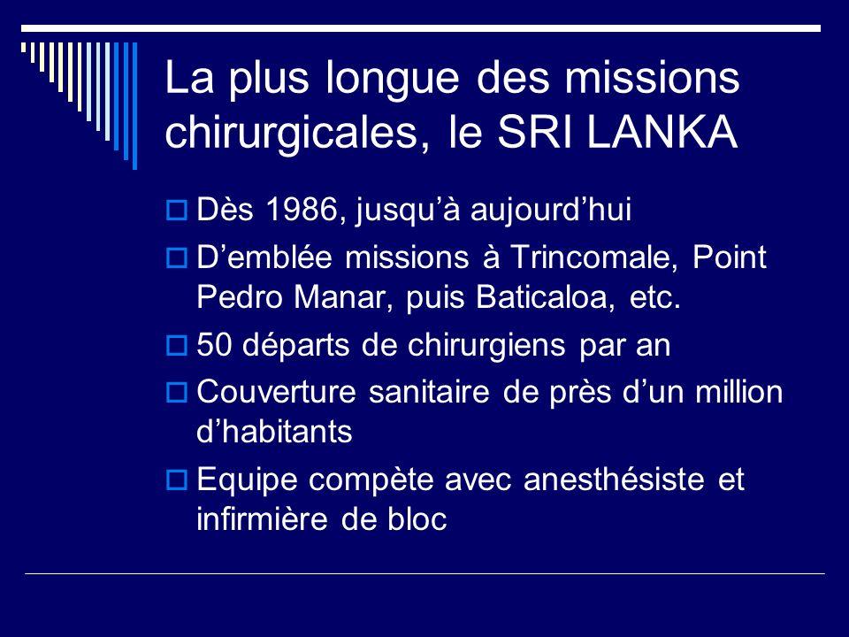 La plus longue des missions chirurgicales, le SRI LANKA