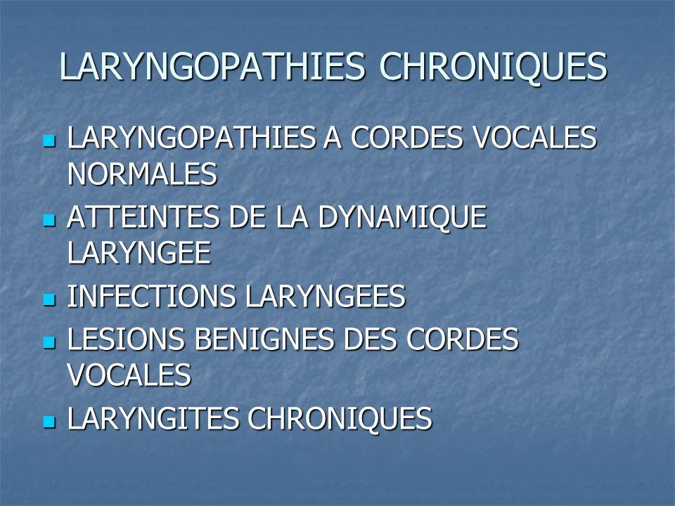 LARYNGOPATHIES CHRONIQUES