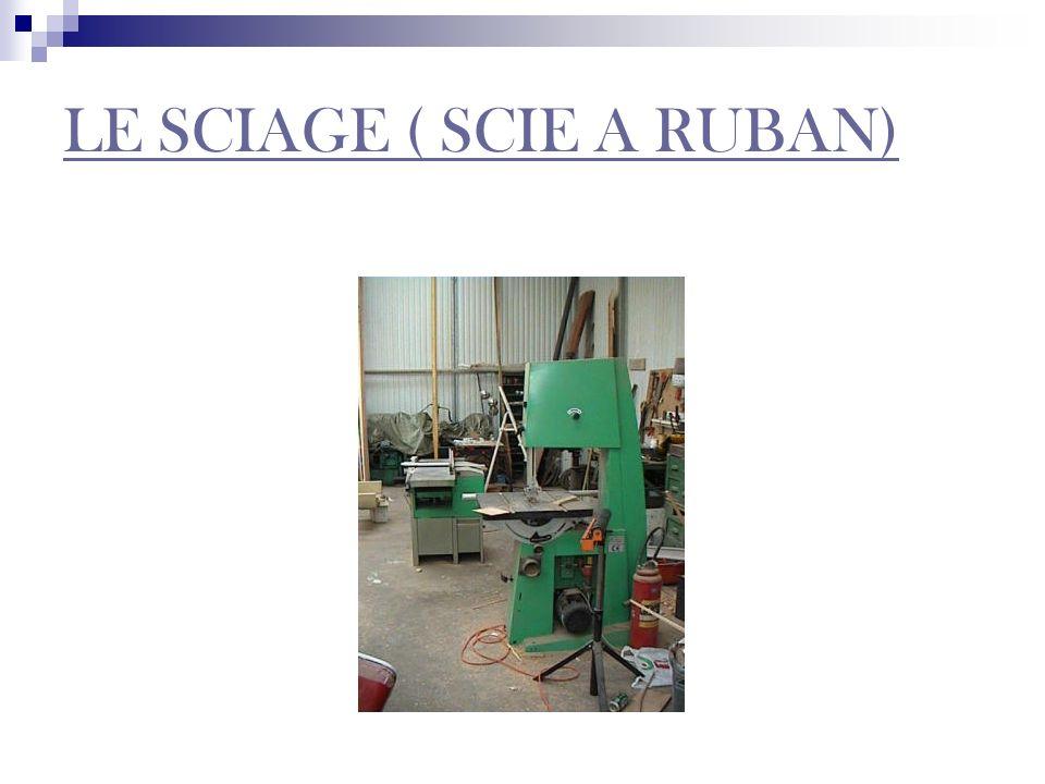 LE SCIAGE ( SCIE A RUBAN)