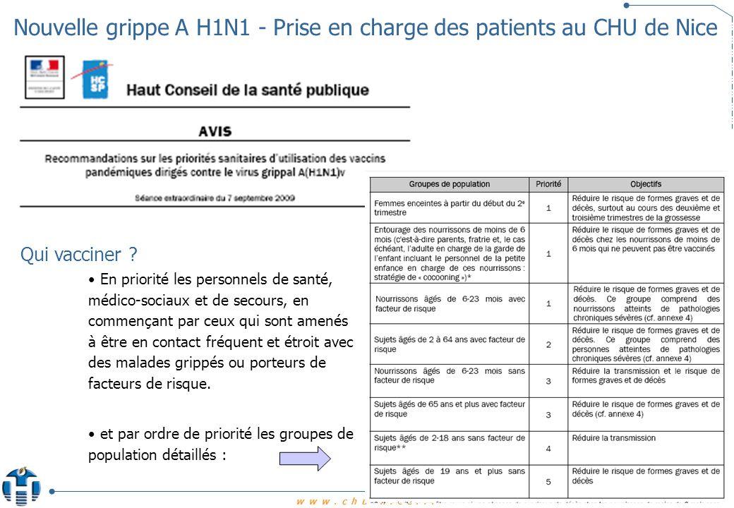 Nouvelle grippe A H1N1 - Prise en charge des patients au CHU de Nice