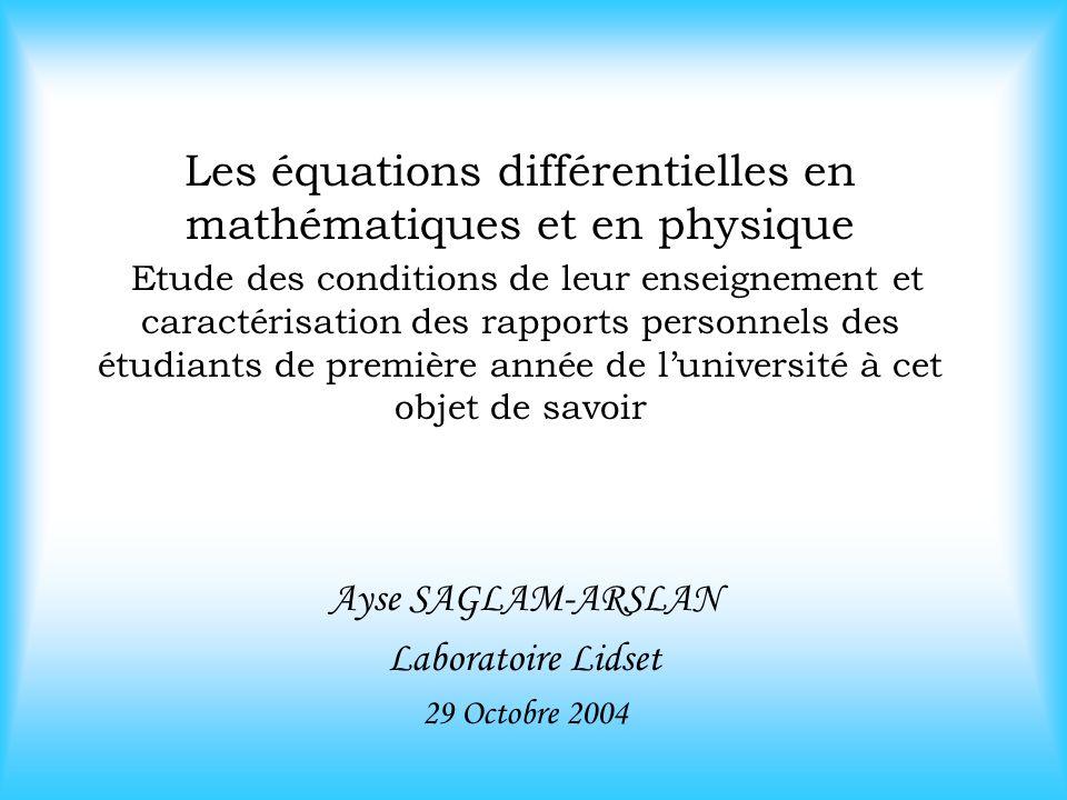 Ayse SAGLAM-ARSLAN Laboratoire Lidset 29 Octobre 2004
