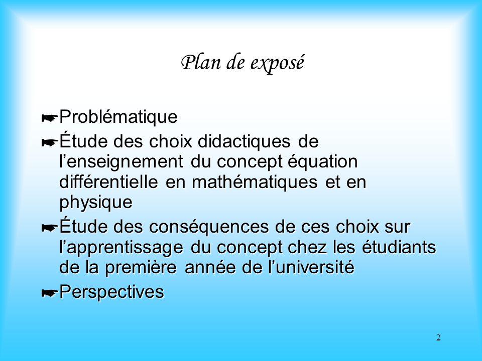 Plan de exposé Problématique